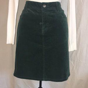 Sonoma green corduroy jean skirt size 6